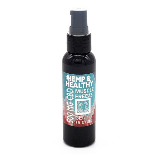 hemp cbd oil muscle freeze recovery workout strain arthritis injury pain relief gel lotion
